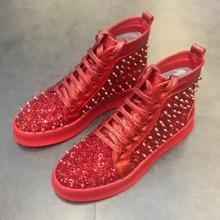unisex casual font b shoes b font 2017 new Men s fashion rivet font b shoes