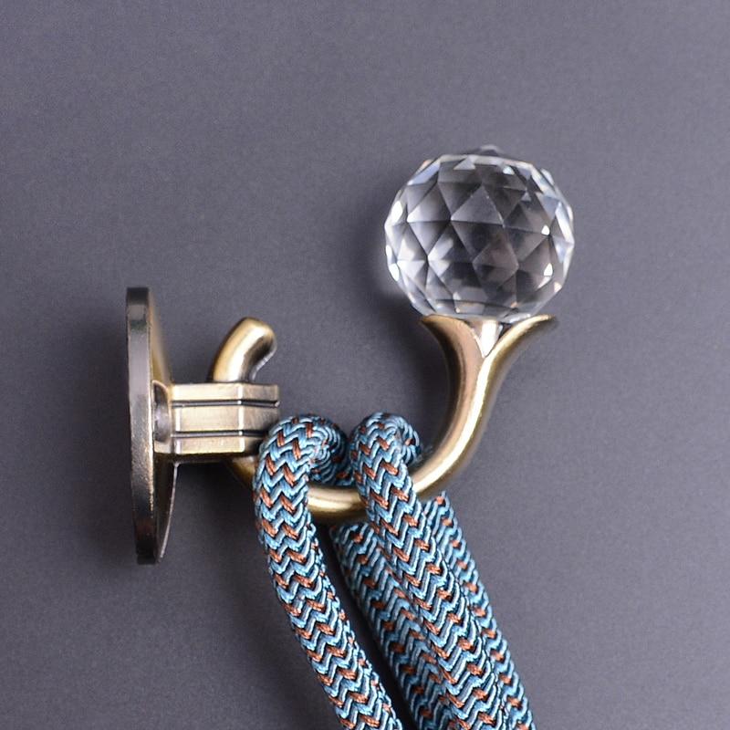 New Crystal Curtain Tie Back Holders Metal Tieback Wall