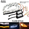 50CM White Yellow Crystal LED DRL Strips Flexible Car LED DRL Stripes LED Daytime Running Light