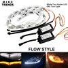 50CM White Yellow Crystal LED DRL Strips Flexible Car LED DRL Stripes LED Daytime Running Light
