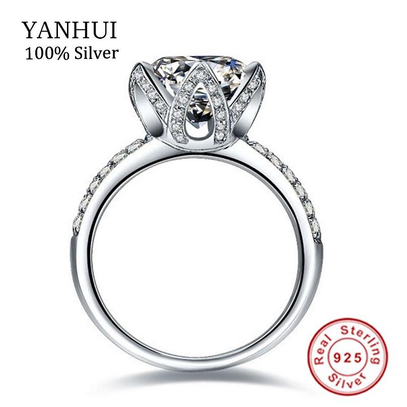 real original silver rings for women luxury 2 carat sona cz diamant engagement ring beautiful wedding rings fine jewelry jzr2901 - Beautiful Wedding Ring