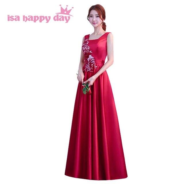 burgundy color long corset prom dress ball gown satin bridal women ...