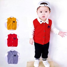 Baby Boys Girls New Born Knitted Sweater Autumn Winter Vest Toddler Newborn Coats Warm Knitting Infantil Bebe Cardigans Cloth