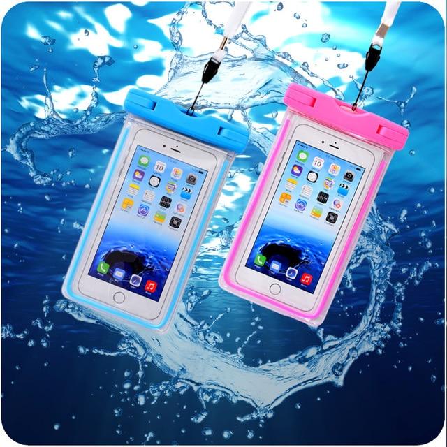timeless design 61bad 8d31c US $3.99 |Luminous Waterproof Bag Pouch Dry Bag Smartphone Case For lg g2  g3 Microsoft Lumia640 Asus Zenfone 5 case Below 5.5 Inch Swim on ...