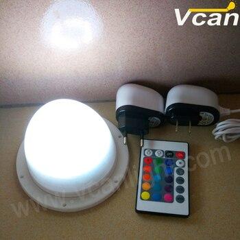 6ピースdhl送料無料防水ip68リチウムバッテリ駆動ワイヤレスrgb led照明モジュール