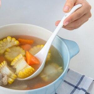 Белая фарфоровая ложка Yolife, кухонный обеденный бар, большой ковш для супа, ложка для горячего горшка, посуда, инструменты