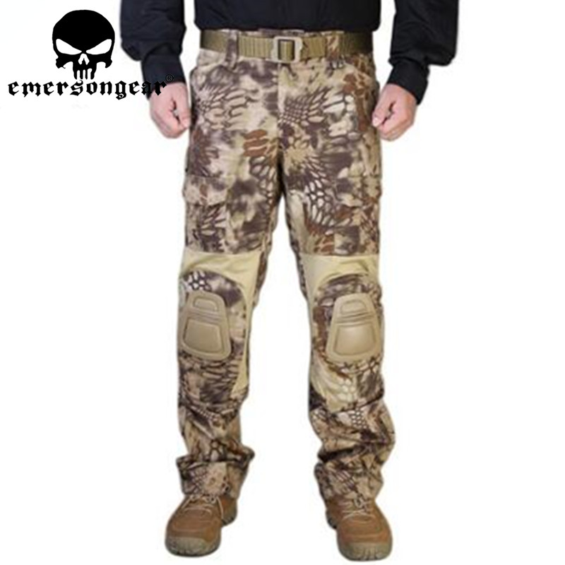 HLD MR Emerson G2 Tactical Pants With Knee Pads Airsoft Emerson gen2 Combat Training Military Trousers EM7038