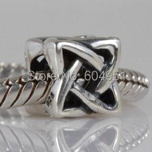 925 Sterling Silver Celtic Knot Charm Beads Fit Pandora Style Diy Bracelet Jewelry