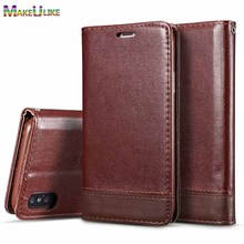hot deal buy makeulike magnetic wallet case for iphone xr xs max flip cover pu leather phone bags cases for iphone xs max xr cover