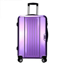 Wholesale!20 24inches abs+pc hardside travel luggage on universal wheels,purple schoolgirl trolley luggage,fashion&trend stylish