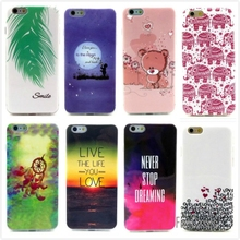For iphone 6 4.7 Fashion Cartoon Bear Owl Soft TPU Silicone Case Soft Cover For iphone6 4.7 inch Phone Protective Bags