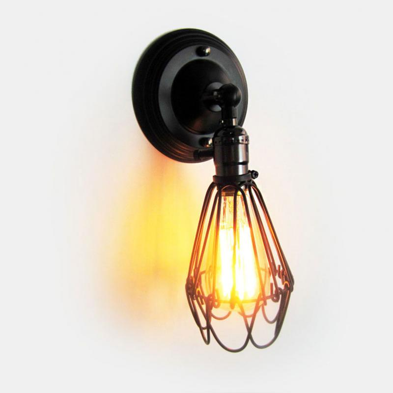 Vintage luminaria E27 Wall Mounted Lamp Holder For Home ... on Wall Mounted Decorative Lights id=96899