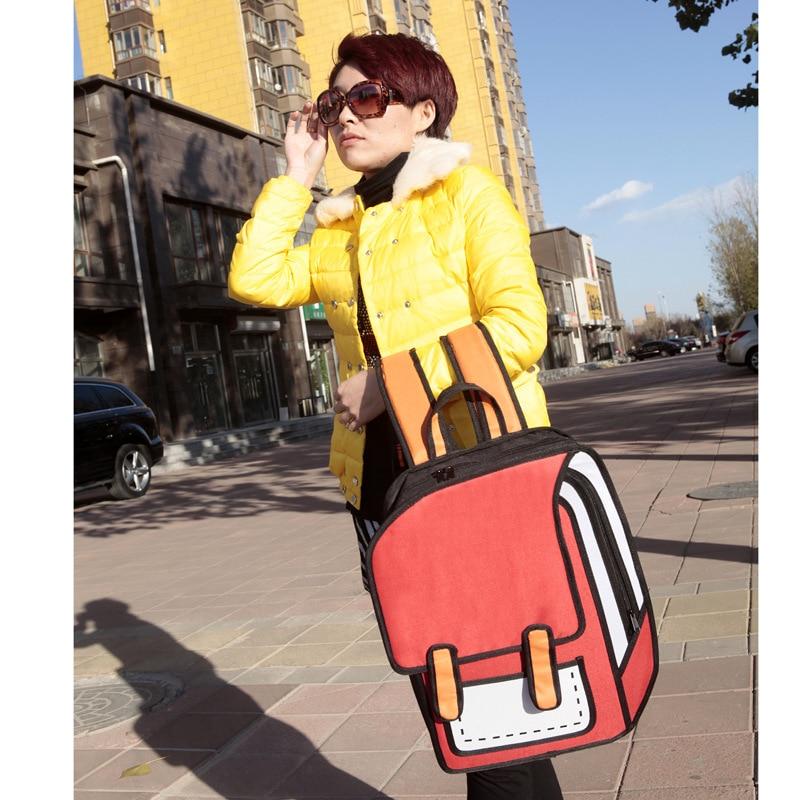 Brand Design 2D 3D Cartoon Bag Women Drawing School Bag Kids Backpack  Mochila Feminina Cute Shoulder Bag For Girl And Boy-in Backpacks from  Luggage   Bags ... 38656601ef