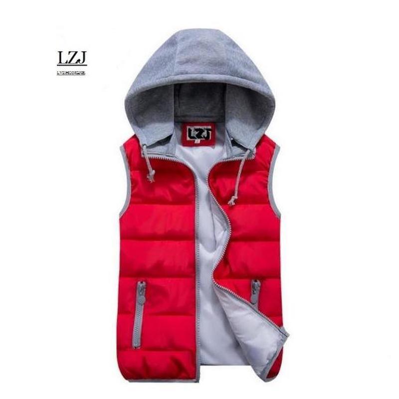 LZJ 2019 nouveau chaud femmes gilets grande taille à capuche deux côtés chaud gilet hiver noir veste d'extérieur sans manches manteau taille M-XXXL