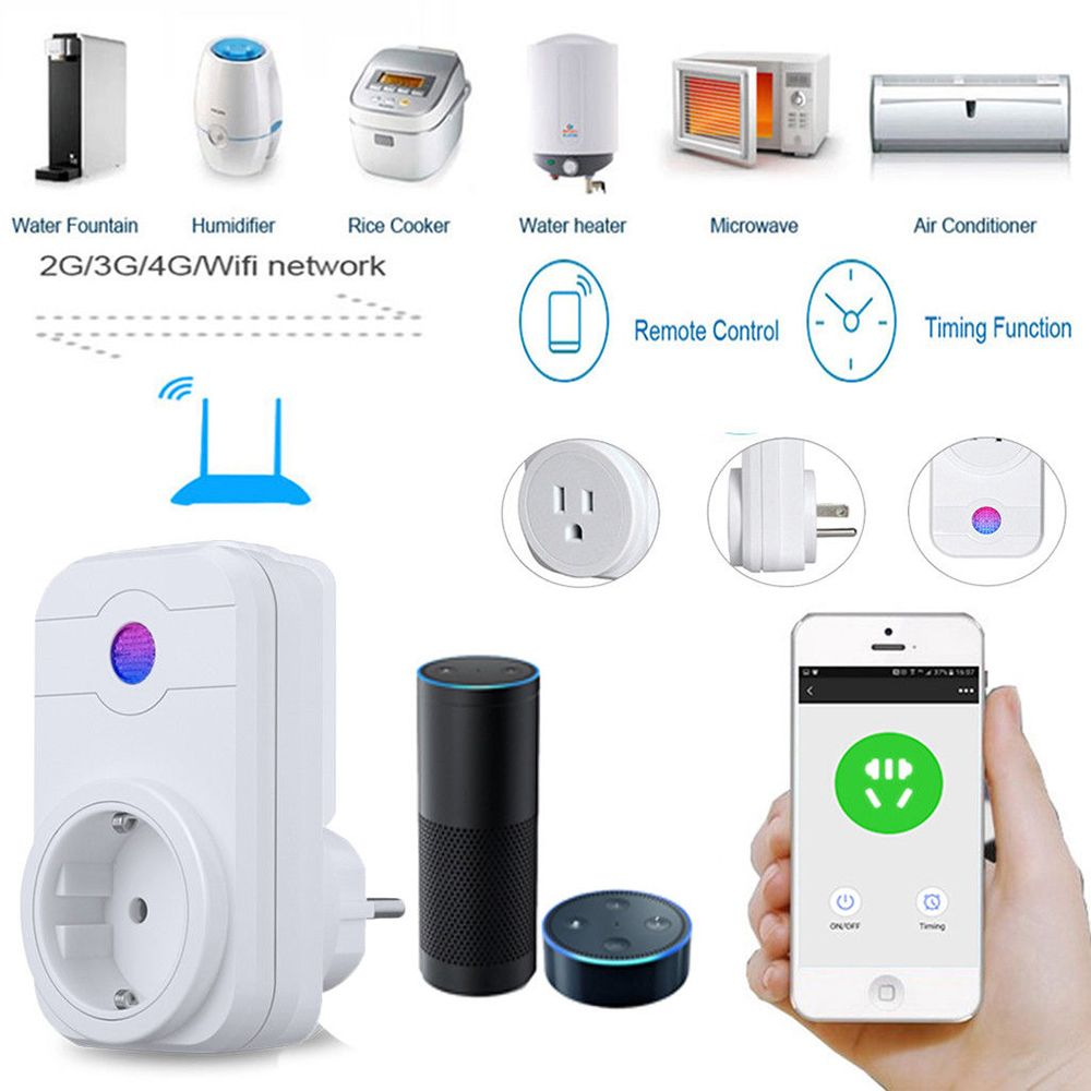 EU Plug AC 100-240V 50 / 60Hz V0 Smart Wifi Outlet Alexa App Remote Control Timer Switch Home Socket Wi-Fi Intelligent Socket wi fi мост ubiquiti litebeam 5ac 23 lbe 5ac 23 eu