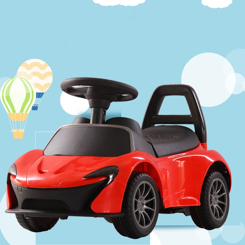 цена на Children Electric Baby Swing Car With LED Light Music Four Rounds Driving Car Scooter Multi-function Car G1525