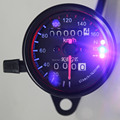 Free Shipping Dual Odometer Motorcycle LED Backlight KMH Speedometer Gauge Signal Universal Odometer Fits for Motorbike Custom