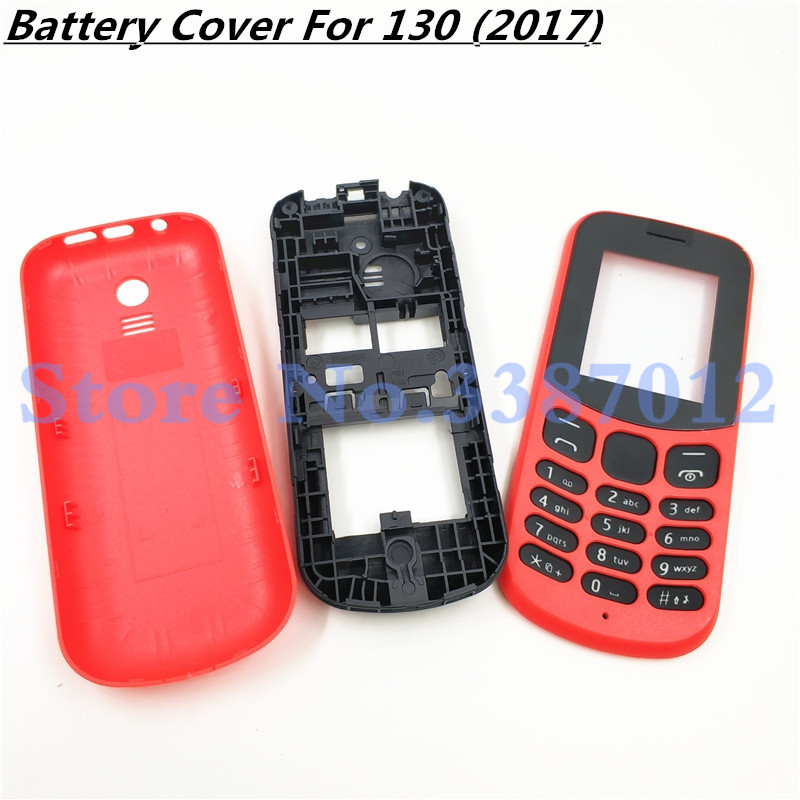 New Full Complete Mobile Phone Housing <font><b>Cover</b></font> Case With English Keypad For <font><b>Nokia</b></font> <font><b>130</b></font> 2017 TA-1017 image