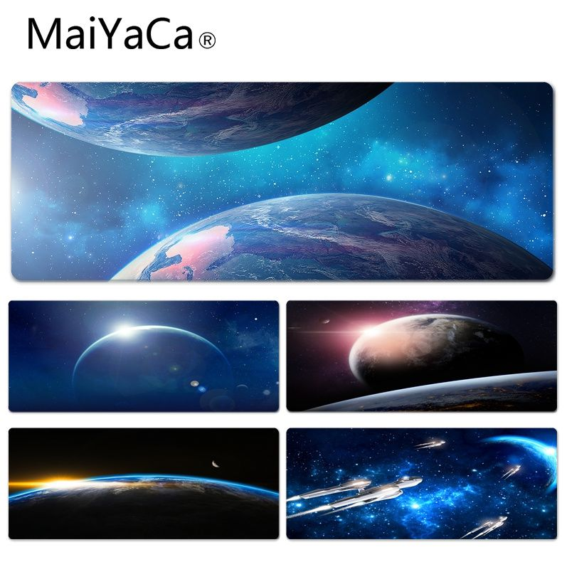 MaiYaCa Sunrise in Space Durable Rubber Mouse Mat Pad Size for 40x90CM Speed Version Gaming Mousepads