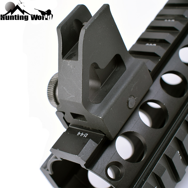Tactical AR Low-Profile Quick Detachable Iron Front Sight Picatinny/Weaver Rail  For High Gas Block, Hand Guard Rails