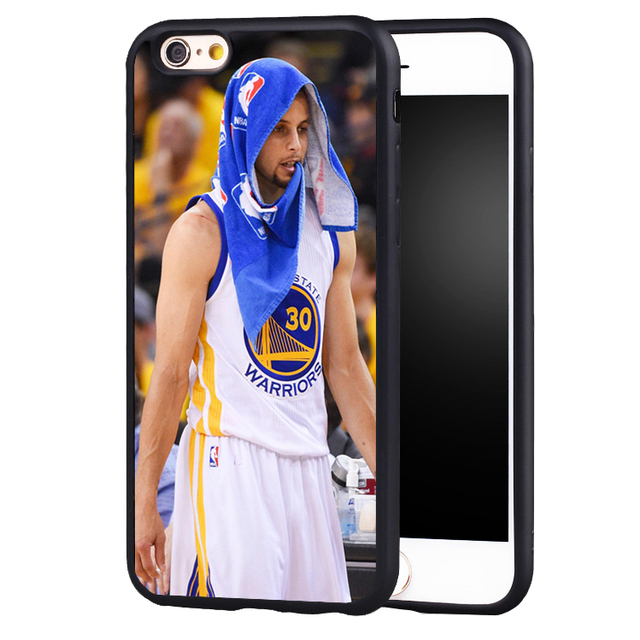 sale retailer bfd37 572f6 US $4.99 |Stephen Curry Basketball Sports fashion Soft Rubber case cover  for iPhone 5 5C 5S SE 6 6plus 6S 7 7Plus-in Fitted Cases from Cellphones &  ...
