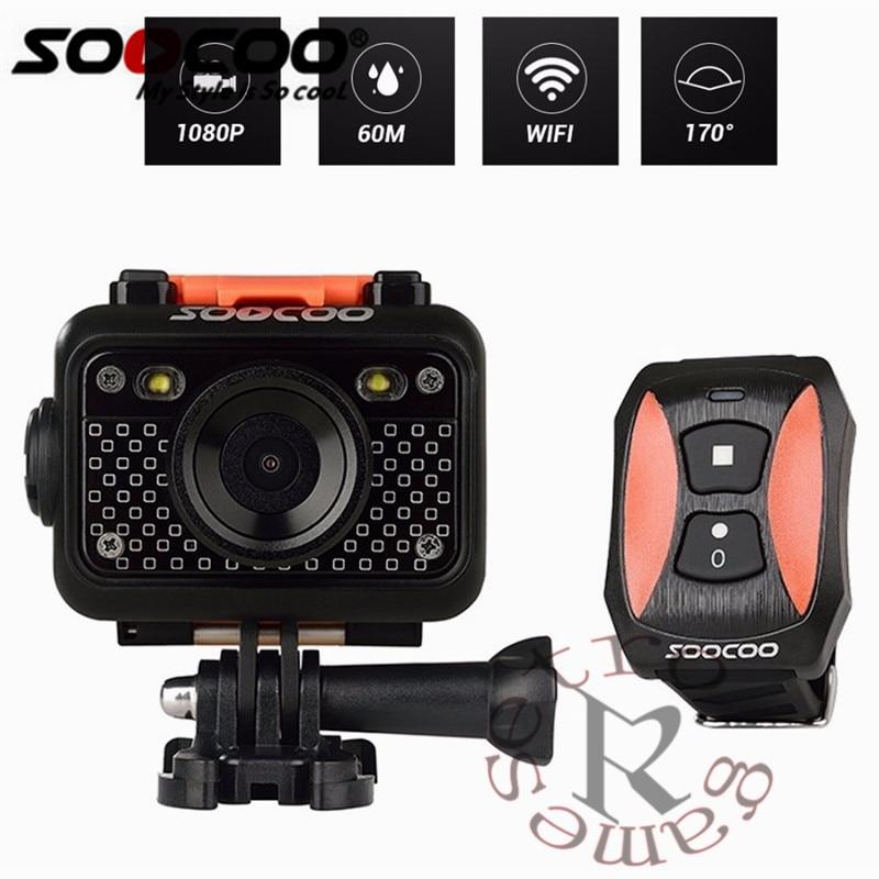 Original SOOCOO S60 Anti-Shock Sports Action Camera, 30M Waterproof Wifi 1080P Full HD 170 Degree Lens Wireless SOS flash signal цена