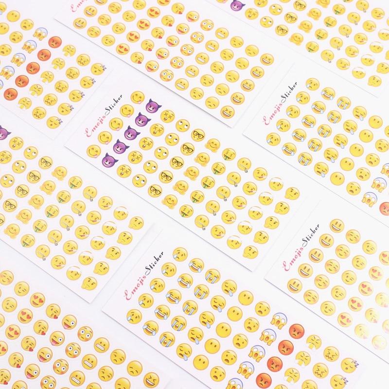 12 Sheets 660 Die Smile Face Expression Emoji Stickers for Diary Photo Album Reward Notebook School Teacher Merit Praise Decor