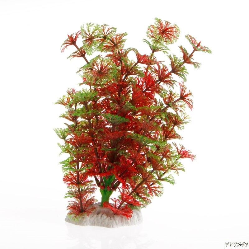 Plastique artificiel plante eau herbe Aquarium Aquarium ornement décoration nouveau Y110-Dropshipping
