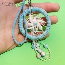 MIAMOR Blue Keychain & Keyring Dreamcatcher Bag Car Hanging Pendant Decoration Accessories Best Holiday Festive Gift Amor056