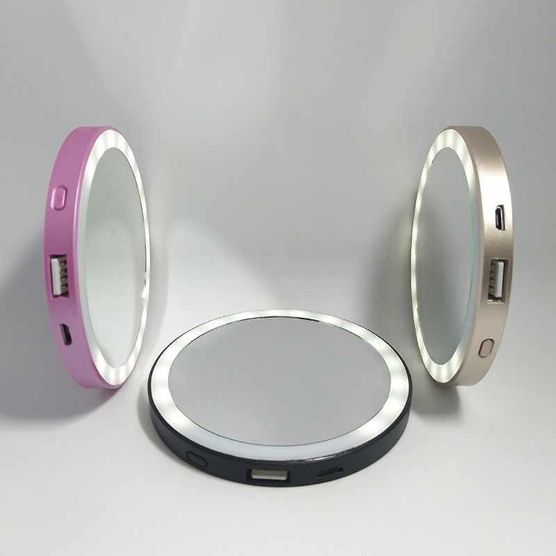 Портативный Self-светильник с таймером HD зеркало для макияжа Led селфи мобильного телефона видео свет ночного заполняющий свет мобильный Питание