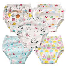 5Pcs Reusable Training Pants Newborn Baby Underwear Toddler 6 Layers Waterproof Underpants Diapers Nappy Panties