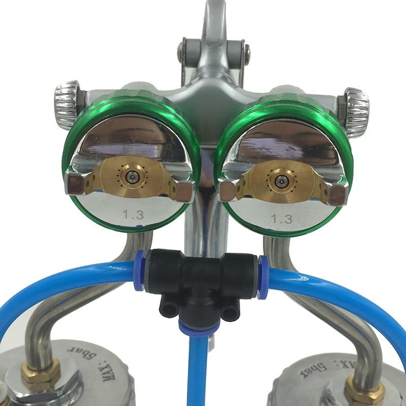 SAT1200 nagynyomású airbrush autófesték spray kettős fúvóka - Elektromos kéziszerszámok - Fénykép 4