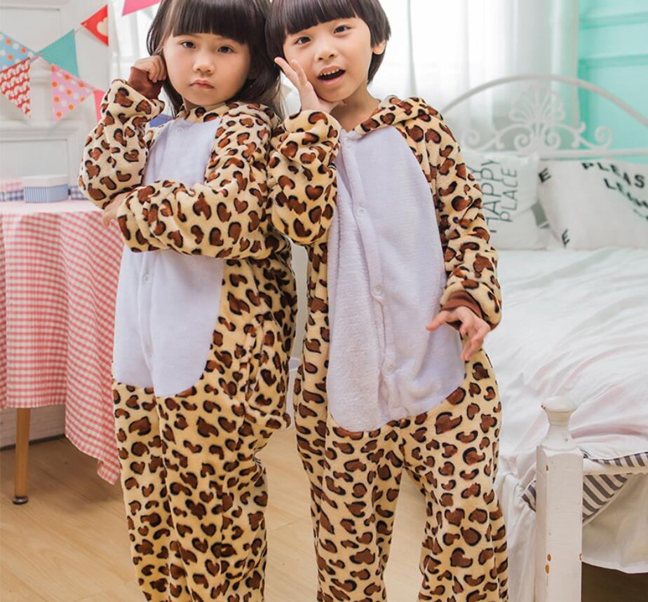 Boys Girls Pajamas Autumn Winter Children Flannel Warm animal penguin Stitch panda Onesie Sleepwear  Pajamas for Kids  HW2037