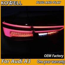 Автостайлинг для AUDI A3 задние фонари 2013 2019 светодиодные задние фонари светодиодная задняя лампа с динамическим поворотным сигналом
