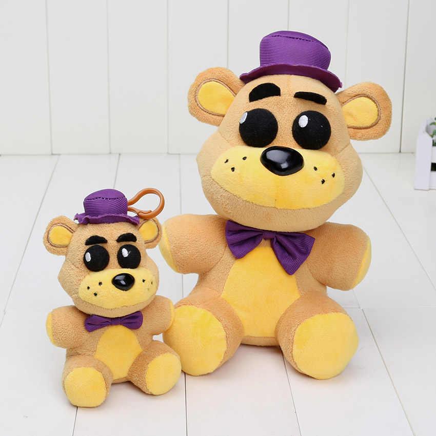 25 cm/14 cm de La felpa juguetes de cinco noches en Freddy colgante de Freddy dorado pesadilla Fredbear sombra Freddy Mangle llaveros de juguete