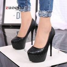 Г., пикантные свадебные туфли на платформе женские черные туфли-лодочки на каблуке Женская обувь женская обувь, chaussure Femme