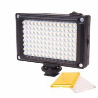 112 LED Dimmable Video Light Rechargable Panal Light (White & Warm Light) for DSLR Camera Videolight Wedding Recording