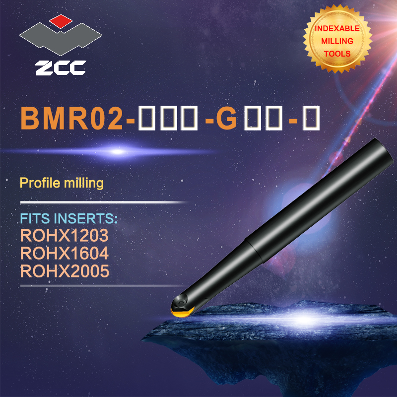 ZCC.CT original ball nose profile milling cutters BMR02 high performance CNC lathe tools indexable milling tools zcc ct square shoulder milling cutters emp05 high performance cnc lathe tools indexable milling tools