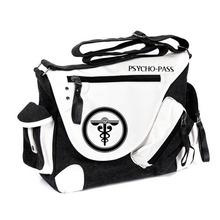 High Quality Psycho pass Cartoon Unisex Patent Leather Canvas Crossbody Bag Fashion Brand Men Messenger Shoulder