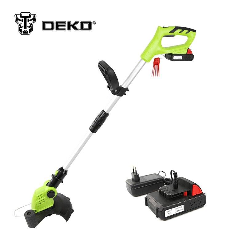 DEKO DKGT06 20 V Lithium 1500 mAh coupe gazon sans fil avec batterie et lame pendentifs outils de jardin