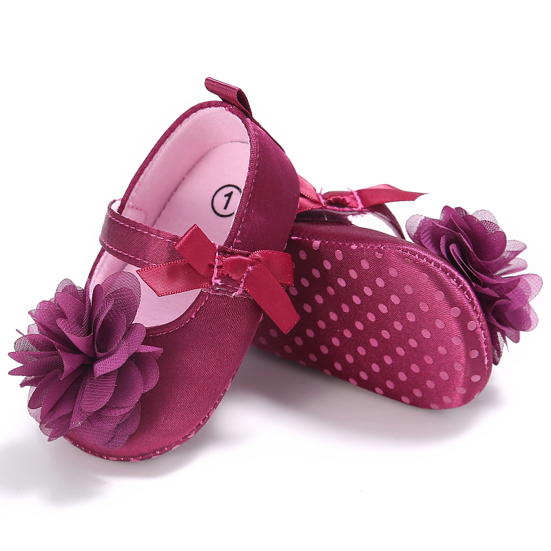 Baby Shoes Spring Autumn Sweet Toddler Princess First Shoes Flower Walkers Lovely Shoes Girls