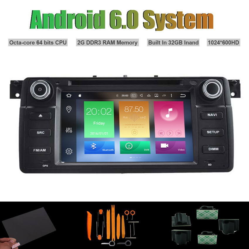 Android 6.0 Octa-core CAR DVD PLAYER for BMW E46 M3 1998-2005 AUTO Radio RDS STEREO WIFI ...