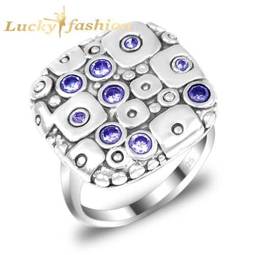 new 2017 brand wedding rings vintage punk solitaire ring o exotic classy women men aneis silver plated r0335 - Exotic Wedding Rings