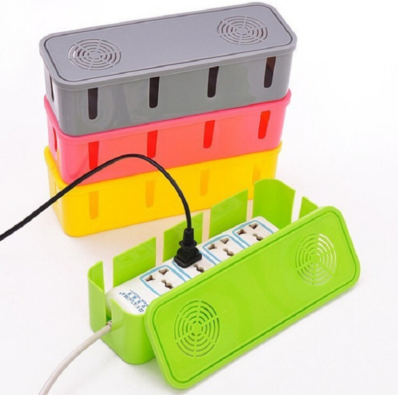 Creative Power Strip Storage Boxes Breathable Organizer Safety Wire Container Cables Electric Wire Box Accessories Supplies