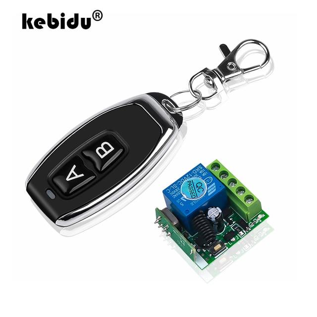 Kebidu ac 12 v 10a 1ch rf 433 mhz 무선 원격 제어 스위치 수신기 모듈 + 지능형 홈 라이트에 대 한 송신기 키트
