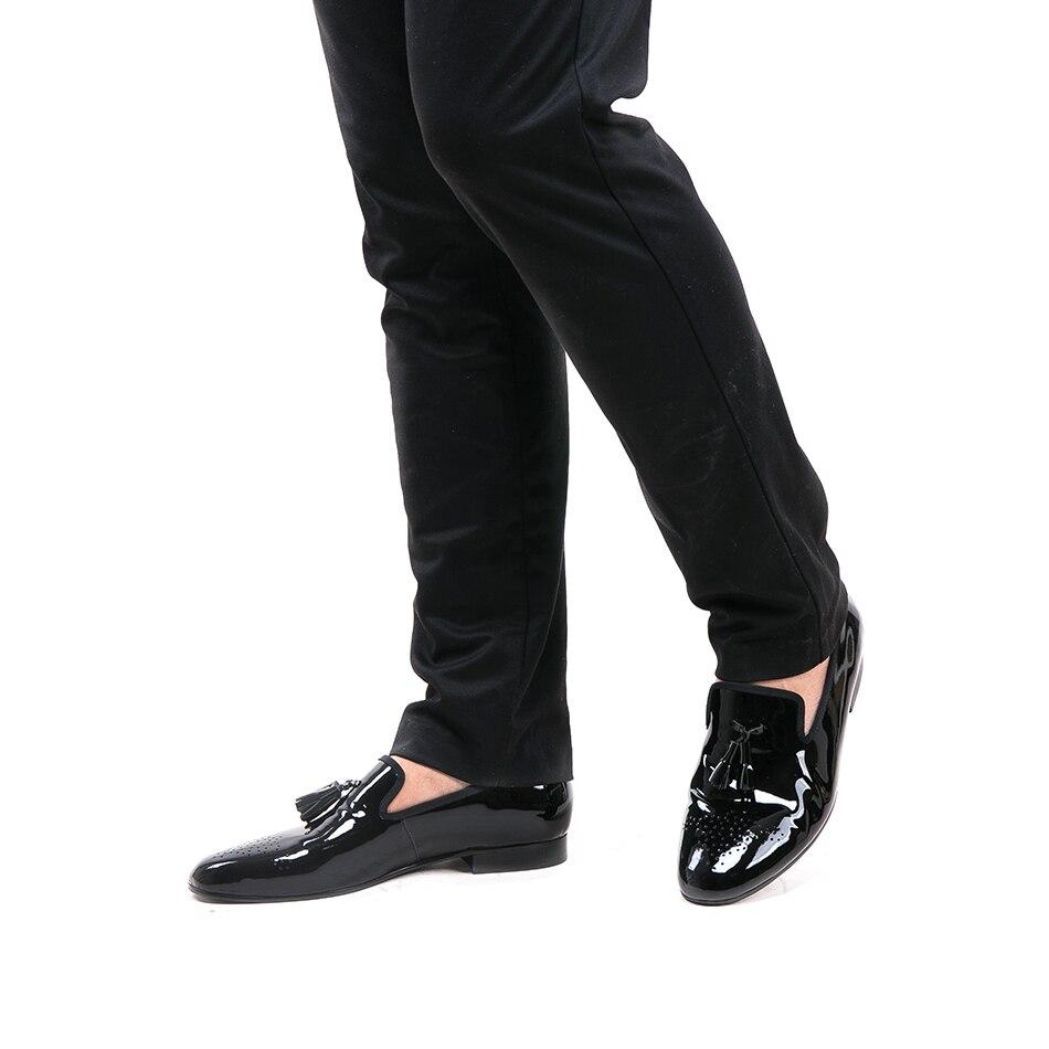 verniciata uomo Mocassini scarpe Matrimonio Size vestito Rosso Due mano a partito Piergitar pelle e nappa in da 2018 Nero Plus colori X0Sq60