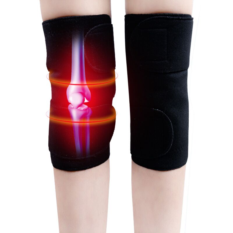 2PCS Knee Brace Support Pads Adjustable Tourmaline self-heating magnetic therapy Knee Protective Belt Arthritis Knee Massager 4