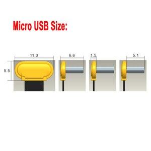 Image 5 - 25cm płaski FPV ultra cienki super miękki niski profil prostopadły Micro USB 90 stopni do usb 2.0 męski FPC wstążka kabel do ładowania danych