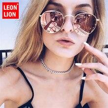 LeonLion 2019 Alloy Sunglasses Women/Men Brand Designer Luxury Glasses Lady Round Sun Glasses Street Beat Oculos De Sol Gafas