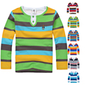 High Quality Boys T-shirt Kids Tees Baby Boy brand t shirts Children tees Long Sleeve Cotton Cardigan Sweater Jacket Shirts